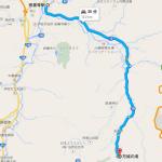 萬丈の滝キャンプ場の地図